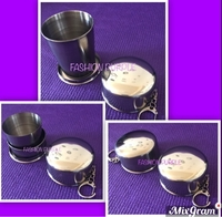 Used 2 pcs Stainless Steel Collapsible Cup in Dubai, UAE