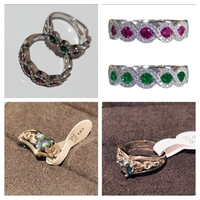Used 2 silver rings size 7+4 rings size 6+7 in Dubai, UAE