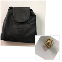 Cosmetic travel bag/ball ring