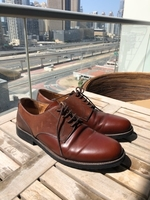 Used Men brown 100% leather shoes, size EU42 in Dubai, UAE