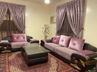 Used Purple sofa with its dining table in Dubai, UAE