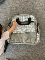 Used Diaper bag and giggle baby carrier  in Dubai, UAE