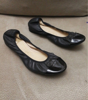Used CLARK LEATHER FLAT SHOES,SIZE40(Wornonce in Dubai, UAE