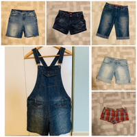 Used Jeans overall and shorts  in Dubai, UAE