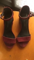 Used Maroon block heels in Dubai, UAE