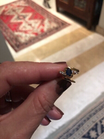 Used Real sapphire ring with zirconium  in Dubai, UAE