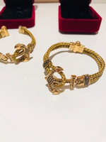 Used Anchor bracelets unisex golden 2 pcs in Dubai, UAE