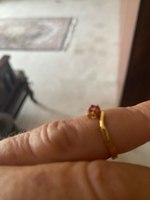 Used Double gold plated ruby ring  in Dubai, UAE