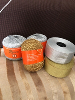 Used Silver and gold yarn & ribbons band 2pcs in Dubai, UAE