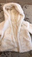 Used Cropped fluffy jacket in ivory in Dubai, UAE