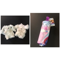 Used 2 Bukowski soft toys-froze pencil pouch  in Dubai, UAE