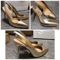 Used ASOS golden python print shoes - UK7 in Dubai, UAE