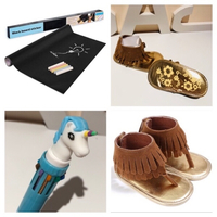 Used Baby sandals 3M+color pen+blackboard  in Dubai, UAE