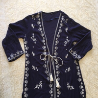 long embroidered cardigan (size 10)