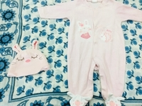 Used Baby girl 3-9month pure cotton onesie  in Dubai, UAE