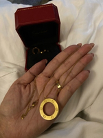 Used Cartier Necklace Earrings 18kGold Plated in Dubai, UAE
