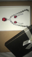Used Stunning ruby necklace & earring set!! in Dubai, UAE