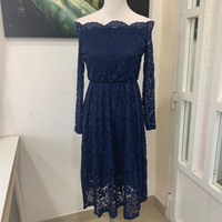 Dark Blue Off-shoulders Dress NEW (M-L)