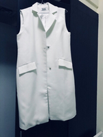 Used Max Mara long white vest new in Dubai, UAE
