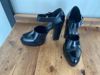 Used Zara leather high heels in Dubai, UAE