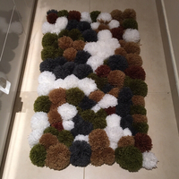 Used Pom Pom Carpet Handmade  in Dubai, UAE