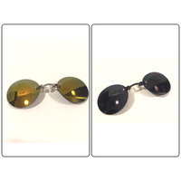 New 2Pcs Men's frameless Clip Glasses