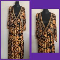Used Wrapped Around Maxi Dress/Small  in Dubai, UAE