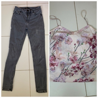Used Jeans by Maje and ted baker top in Dubai, UAE