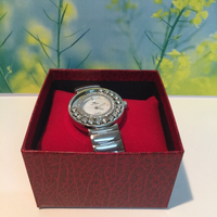 Used Silver watch with moving zarcion  in Dubai, UAE