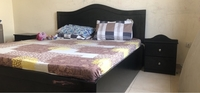 Used Bed king size with 2 side tables  in Dubai, UAE