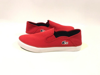 Used NEW LACOSTE Slip-on Shoes Size EU 43 Red in Dubai, UAE