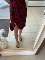 Used Zara black and red leopard skirt - new  in Dubai, UAE