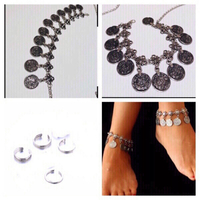 Used 2 anklet coin bracelets +4 toe rings  in Dubai, UAE