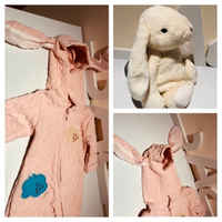 Used Sweet Kanini bunny & jumpsuit 6-9 M in Dubai, UAE