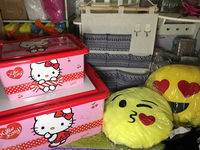 Used 2 Sanrio Plastic Box+ 2 Emoji Pillows+1  in Dubai, UAE