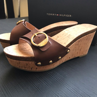 Used Tommy Hilfiger sandals size 37, worn onc in Dubai, UAE