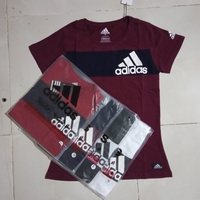 Used Ladies shirt Adidas triangle Large 5pcs in Dubai, UAE