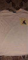 Used white and yellow striped t-shirt in Dubai, UAE