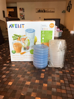Used Avent baby food storage containers in Dubai, UAE