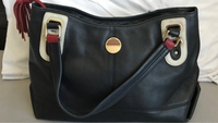 Used Tommy Hilfiger navy leather bag in Dubai, UAE