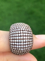 Used 925 silver zircon ring rose gold plated in Dubai, UAE