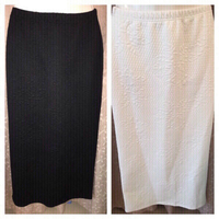 Used 2 new skirts black/white size 38 in Dubai, UAE