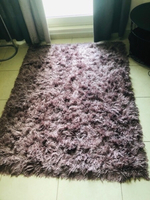 Used Fur Purple Rug in Dubai, UAE
