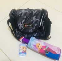 Used 1 FGEAR Lunch Bag+ 1 FROZEN pencil pouch in Dubai, UAE