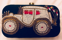Embroidered Funky Clutch