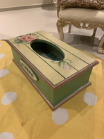 Used Wooden tissue box handpainted  in Dubai, UAE