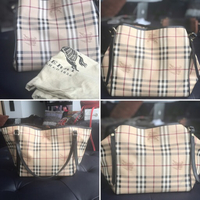 Used 100% Authentic Burberry leather tote in Dubai, UAE