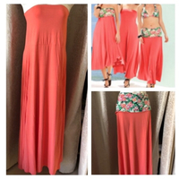 3 in 1 coral dress/skirt size EU 44/UK10