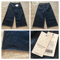 Used Women Wide leg Nine pants bottoms denim jeans in Dubai, UAE