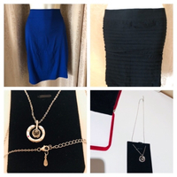 Used 2 skirt size S + M + silver necklace  in Dubai, UAE